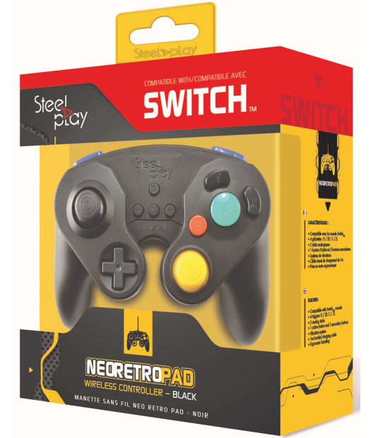 Steelplay Wireless Neo Retro Controller Black - Switch