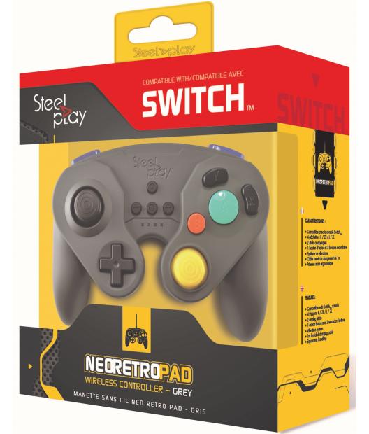 Boxart van Steelplay Wireless Neo Retro Controller Grey - Switch (Switch), Steelplay