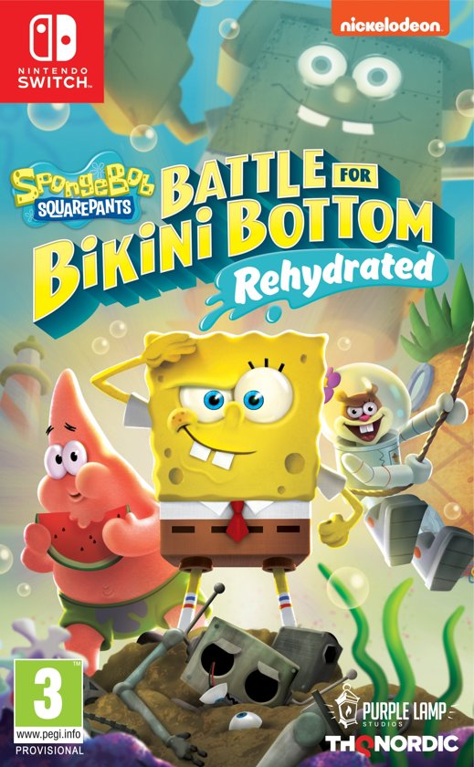 Boxart van Spongebob SquarePants: Battle for Bikini Bottom - Rehydrated (Switch), Purple Lamp Studios