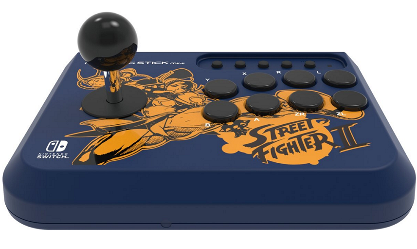 Boxart van Hori Mini Fighting Stick - Street Fighter II Chun-Li Edition (Nintendo Switch / PC) (Switch), Hori