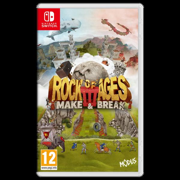 Boxart van Rock of Ages 3: Make & Break (Switch), ACE Team, Giant Monkey Robot