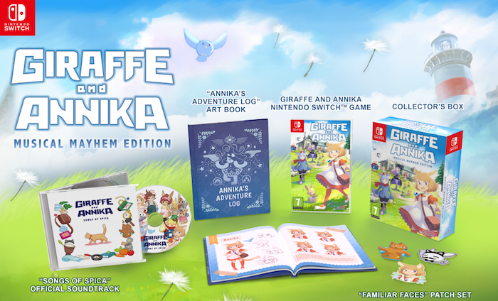 Boxart van Giraffe and Annika - Musical Mayhem Edition (Switch), NIS America
