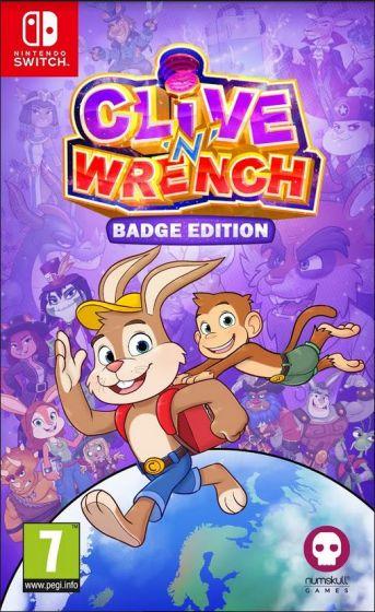Boxart van Clive 'N' Wrench - Badge Edition (Switch), Dinosaur Bytes Studio