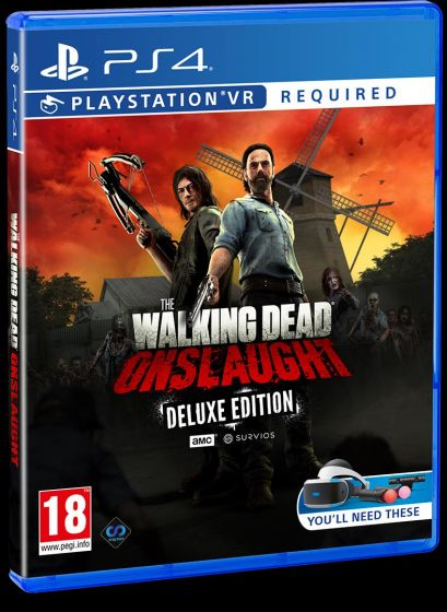 Boxart van The Walking Dead: Onslaught (PSVR) - Deluxe Edition (PS4), Survios